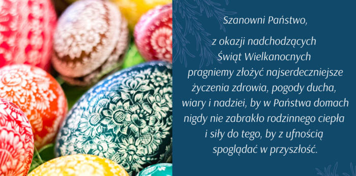 SiDLY życzy pogodnych Świąt Wielkanocnych! …