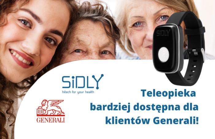 Miliony klientów Generali mogą skorzystać z teleopieki SiDLY. …